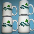 ALPINE CIGARETTES Mugs SET OF 4 Mountain Fresh PREMIUMS Philip Morris