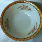 VINTAGE GOLD LUSTREWARE BOWL~JAPAN~6 IN~PINK ROSES