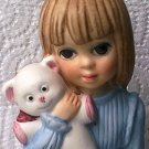MARGARET KEANE BEDTIME BIG EYED GIRL FIGURINE ~DAVE GROSSMAN~1977
