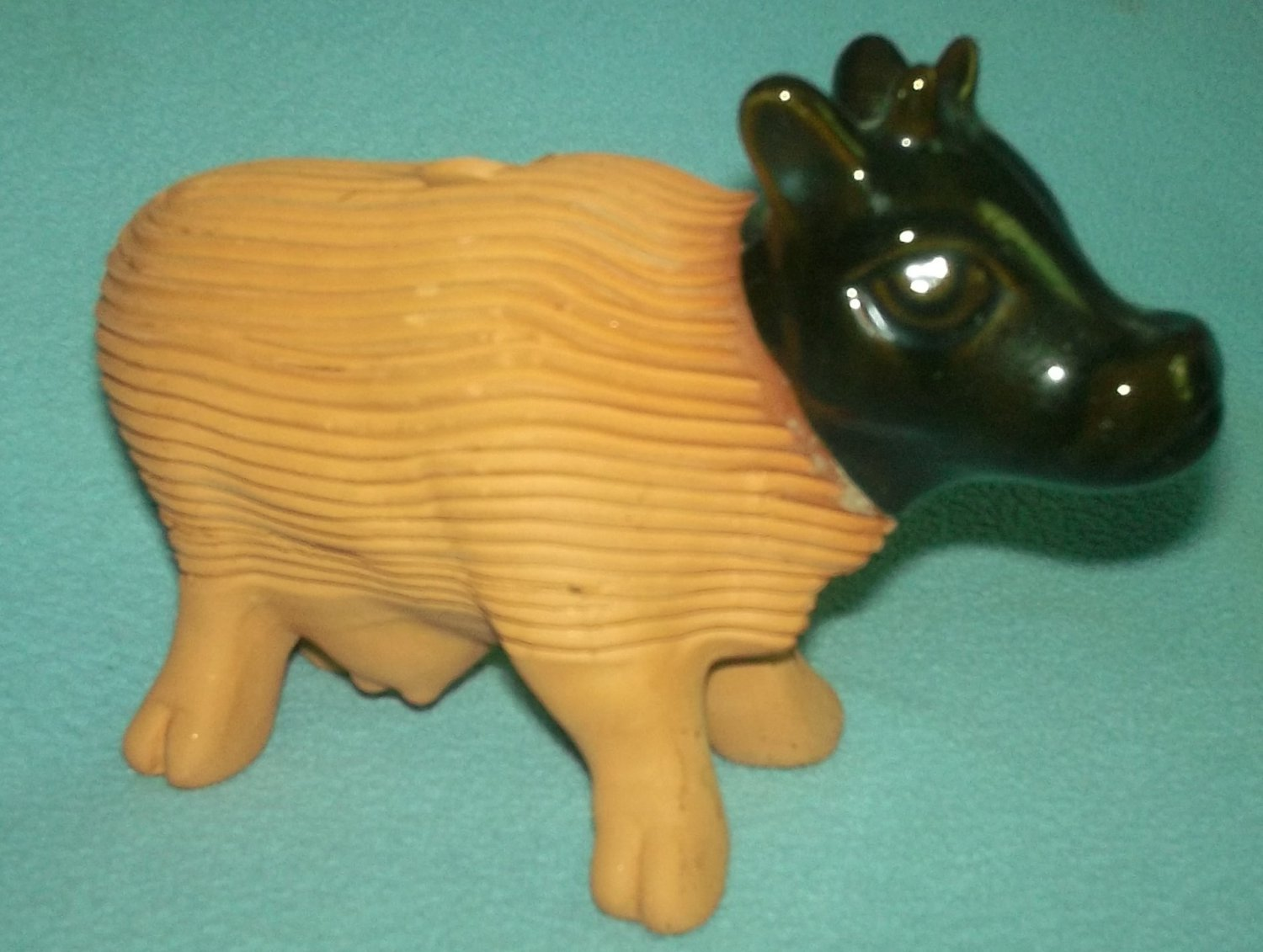 Vintage TECATE MEXICO Chia Pet Seed Planter BULL Mexican TerraCotta GARDEN