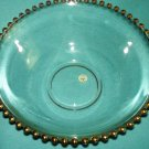 Vintage HEISEY DALZELL VIKING GLASS Gold Candlewick Large  SERVING BOWL Mid Century GORGEOUS