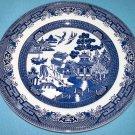 BLUE WILLOW Broadhurst Staffordshire Ironstone England DINNER PLATE Blue White
