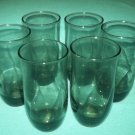 Vintage DUZ DETERGENT Smoky Gray TUMBLERS GLASSES Set of 6 Elegant Promotional MID CENTURY