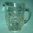 EARLY AMERICAN PRESCUT EAPC 18 OZ GLASS PITCHER ANCHOR HOCKING 1960'S
