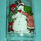HOLLY HOBBIE COCA COLA CHRISTMAS PROMO ADVERT GLASS Snowman 1978