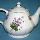 Vintage ROYAL PARK STAFFORDSHIRE Teapot AFRICAN VIOLET VIOLA design ENGLAND Stunning!