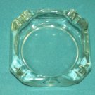 CLEAR GLASS Ashtray SQUARE Vintage Plain MID CENTURY