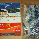 MEGA HOMETOWN COLLECTION JIGSAW PUZZLE Heronim Wysocki AT THE LIGHT BEFORE CHRISTMAS Sealed SNOWMAN