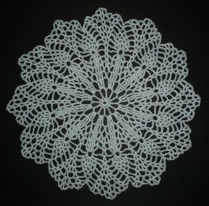 Hand Crochet Doily - Vintage Pattern - Pure White