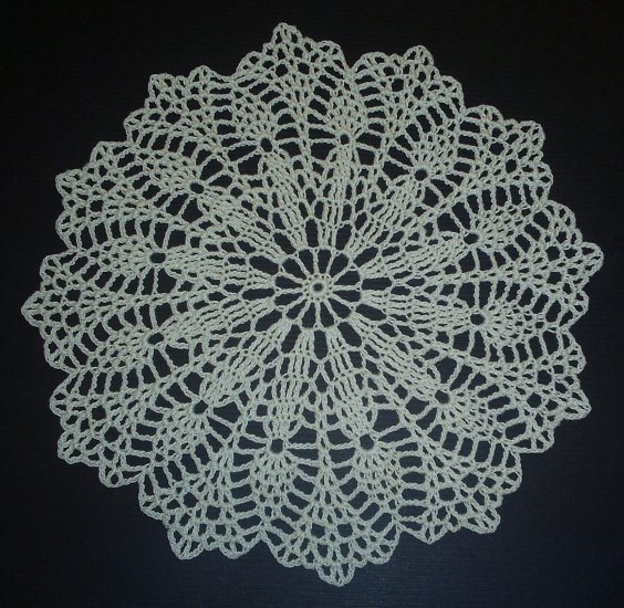 Hand Crochet Doily - Vintage Design - Ecru (Antique White)