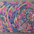 Lot of 4 Hand Crocheted CD Coasters - upcycled/recycled - Spring Colors