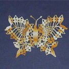 Hand Crochet Butterfly Extra Fine Thread Variegated Yellows