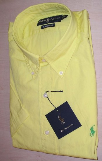 NEW RALPH LAUREN POLO Mens Classic Fit Dress Shirt L Large  NWT