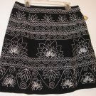 NEW $108 TALBOTS Womens Skirt 10P 10 Petite Black White NWT