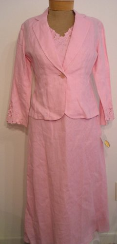 NEW $148 TALBOTS Womens Cocktail Evening Dress Jacket 8 Pink NWT