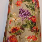 NEW $134 TALBOTS Womens Floral Fluted Skirt 24WP 24 Woman Petite NWT