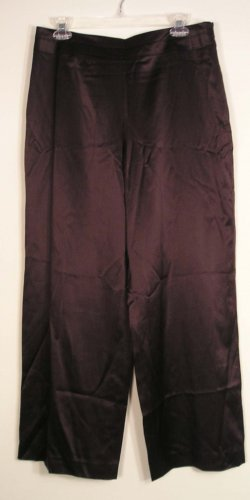NEW $118 TALBOTS Womens Dress Pants Silk 10P 10 Petites NWT Dark Brown