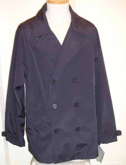 NEW LONDON FOG Mens Coat jacket XL Regular Navy NWT $125