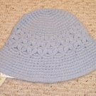 NEW LAUREN RALPH LAUREN womens hat cap NWT Hand crocheted Light Blue