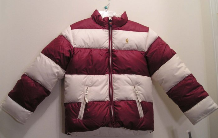 NEW RALPH LAUREN Girls Reversible Down Jacket Coat 4 4T NWT