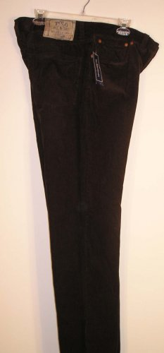 NEW With Tags POLO RALPH LAUREN Mens Corduroy Pants 36 34 NWT Dark Brown