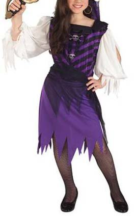 NEW Pirate Queen Kids Halloween Costume S Small Girls