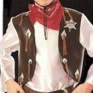 NEW Cowboys Playset Halloween Costume M Child Boys NIP