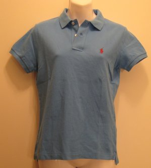 NEW RALPH LAUREN Womens Skinny Polo Shirt Top S NWT