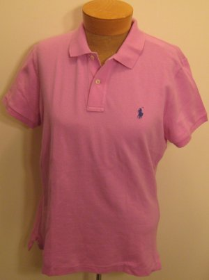 NEW RALPH LAUREN Womens Skinny Polo Shirt Top M NWT