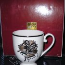 NEW MIKASA FINE CHINA CAMEO HOLLY BELL 4 Mugs NIB