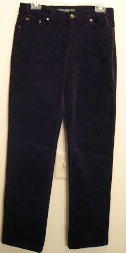 NEW RALPH LAUREN POLO Womens Corduroy Pants 4 NWT Black