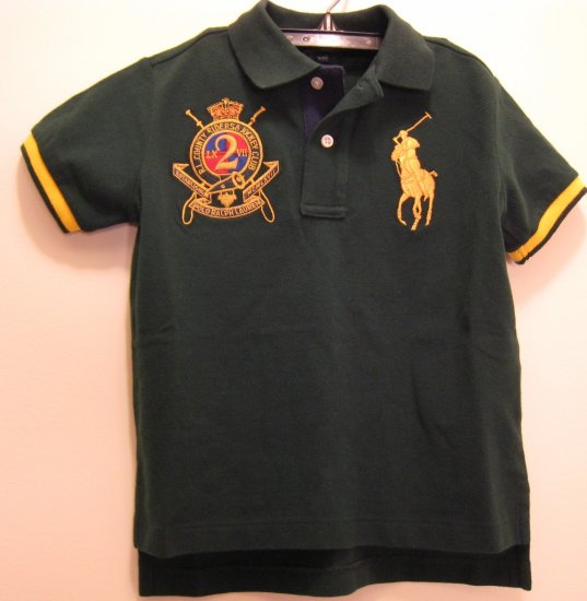 NEW POLO RALPH LAUREN Baby Boys Shirt Top Big Pony 12M NWT