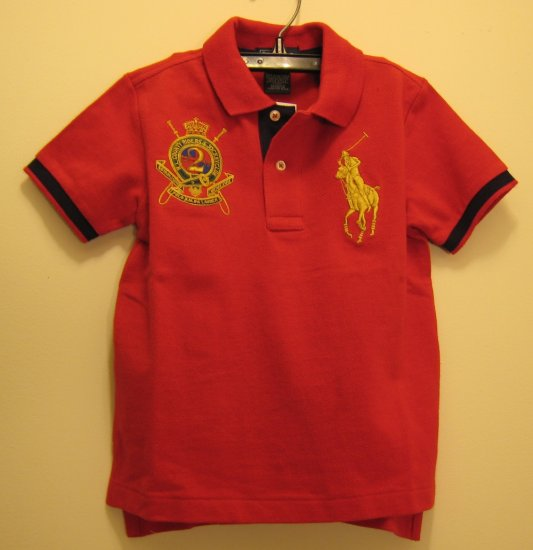 NEW POLO RALPH LAUREN Boys Shirt Top Big Pony 3 3T Red NWT