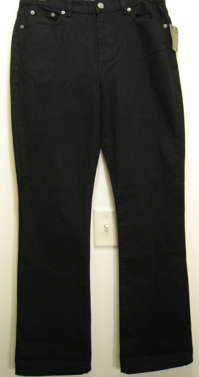 NEW RALPH LAUREN POLO Womens Jeans Pants 6 NWT Black