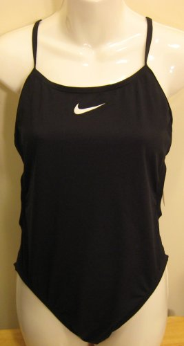 NEW NIKE Womens Swim Strength Swimsuit 32 6 NWT Black