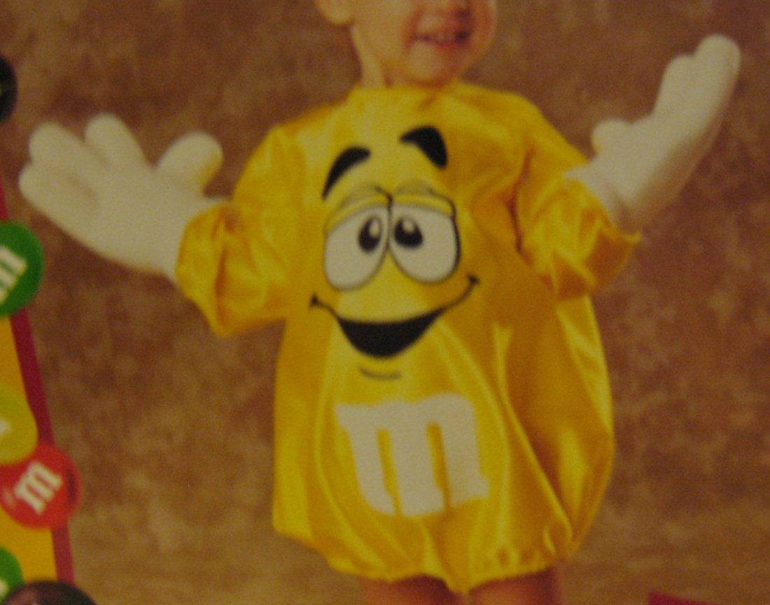 NEW M&M Yellow Halloween Costume Childs Kids Infant