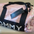 NEW TOMMY HILFIGER Mini Duffle Gym Travel Bag Tote NWT Small Pink Navy White