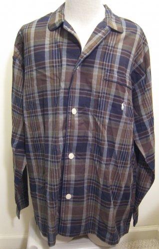 NEW POLO RALPH LAUREN Mens Cotton Sleep Shirt NWT M