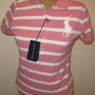 NEW RALPH LAUREN The Skinny Polo Big Pony Womens Shirt Top L Large NWT