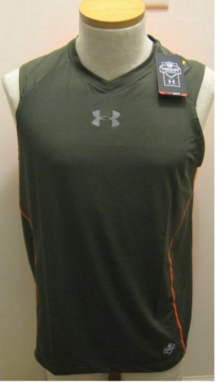 New under armour nfl combine mens fitted tank shirt top for Under armour nfl shirts
