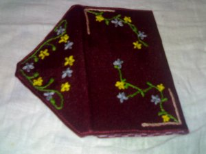 Sakura Embroidered Pouch