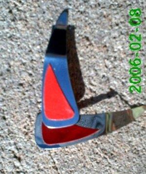 Red leather *Zaro 2 design dangle earrings