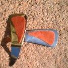 Rust colored Suede *Zaro design clip-on earrings