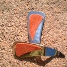 Rust colored Suede *Zaro design dangle earrings