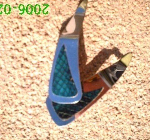 Teal genuine snake skin *Zaro 2 design dangle earrings