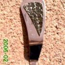 Green snake skin stamped leather *Zaro design clip-on earrings