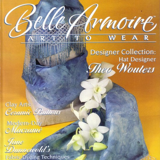 BELLE ARMOIRE MAGAZINE, ART TO WEAR, HANDMADE JEWELRY, CLOTHING, ACCESSORIES SPRING 2002