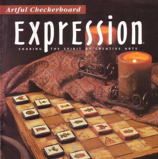EXPRESSION MAGAZINE ~CREATIVE ARTS~ HANDMADE ~ STAMPING ~ PAPER & CLAY ART, CRAFTS, MAY/JUNE 2002