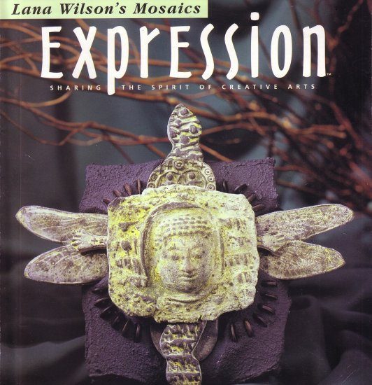 EXPRESSION MAGAZINE ~CREATIVE ARTS~ HANDMADE ~ STAMPING ~ PAPER & CLAY ART, CRAFTS, JULY/AUGUST 2002