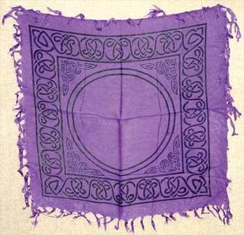 Purple Celtic Altar Cover